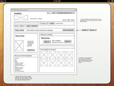 iMockups for iPad gives designers and developers with the ability to quickly draft wireframes for their websites and apps.