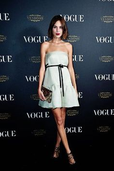 Alexa Chung attends the Vogue 95th Anniversary Party on...