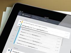Dribbble - iPad Mail App by Philipp Datz