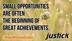 #Justick #MakeMondayCount