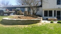Stone / rock gate post, firepit, retaining wall,  sitting wall. BTC DRYSTONE  btcdrystone@gmail.com  Versailles ky.  859 873 9358  free estimates tri county