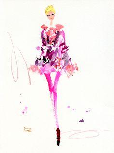 Anna Sui FALL 2012 READY-TO-WEAR | Miyuki Ohashi #illustration | http://miyukiohashi.net/