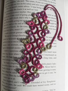 Tatted Bookmark color ideas
