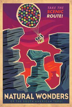 Up - Retro Posters - pixar Photo