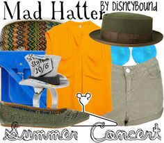 Disney Bound: Mad Hatter from Disney's Alice in Wonderland (Summer Concert Outfit)