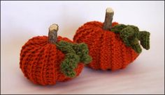 My First Crochet and Knit Pumpkins    This isn't the first pumpkin I've ever crocheted...but it is the first knitted one! And what better way to celebrate f