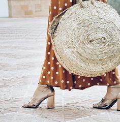 #vestido #topos #lunares #mostaza #lookfortime #look #ootd #outfit #lookbook #capazo #summer #sea #beach #maxi #dress #vestido #largo