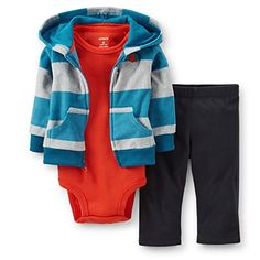 Carters Baby Boys 3 Piece Hooded Set Baby  Teal  9 Months ** You can get more details by clicking on the image.Note:It is affiliate link to Amazon.