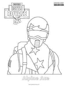 Alpine Ace Skin Fortnite Coloring Page