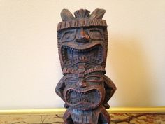 Tiki Fertility Figurine Statue Male and Female by SpaceModyssey