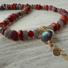 Labradorite Jewelry Natural Bezel Set by yifatbareket