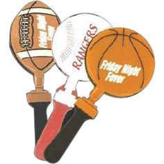 Sport Ball Shaped Clappers from www.schoolspiritstore.com