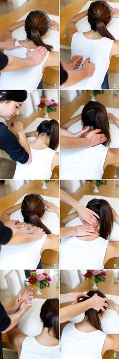 How to give a great massage in 8 steps.. Can't wait to do this for a wonderful woman!