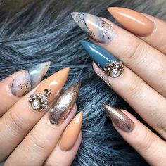 Nude Nails, Stiletto Nails, Pointed Nails, Nails Inspiration, Long Nails, Nail Designs, Nail Art, Beauty, Beige Nail