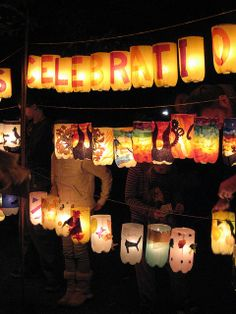 2 liter bottle/tissue paper/battery operated tea light lanterns