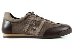 FENDI-SCARPE-SNEAKERS-UOMO-IN-NYLON-7E0614GN3F0TJU-MARRONE-SHOES-MENS-TRAINERS