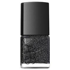 NARS Nail Polish, Night Breed 0.5 fl oz (15 ml) ($20) ❤ liked on Polyvore featuring beauty products, nail care, nail polish, beauty, nails, accessories, nars cosmetics, nail colour, black nail polish and black glitter nail polish
