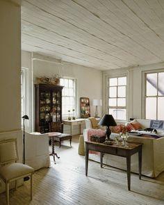John Derian's NYC living room via a perfect gray