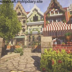 Only village I've seen that I'd like to create style wise. - Minecraft World Minecraft World, Villa Minecraft, Art Minecraft, Minecraft Structures, Minecraft Cottage, Minecraft House Tutorials, Minecraft Medieval, Cute Minecraft Houses, Minecraft Plans