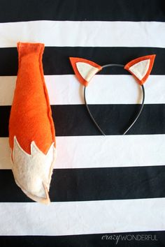 Fox ears headband and fox tail (from a fox birthday party post)