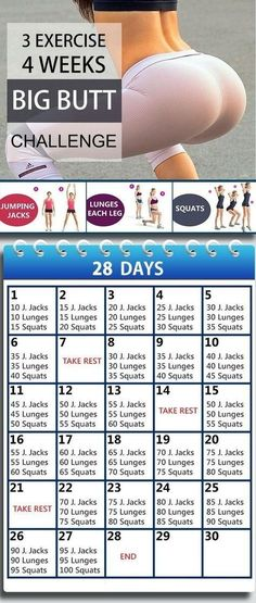If you want a bigger, bubbly, stronger and beautiful butt, then you are at right place. In this article, you will get 4 weeks bigger butt workout challenge that will work effectively to shape your butt