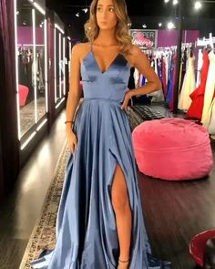 Senior Prom Dresses, Grad Dresses Long, Pretty Prom Dresses, Prom Outfits, Elegant Prom Dresses, Prom Dresses Blue, Prom Party Dresses, Simple Prom Dress, School Dance Dresses