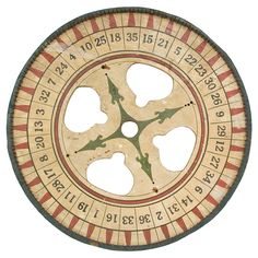 1900's American hand painted wooden roulette wheel