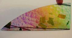 Spring Green/Deep Pink Fracture-Streamer Rainbow #2 Dichroic Glass