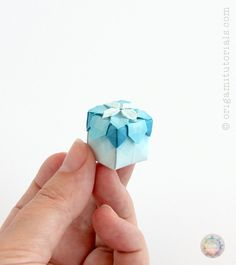 Origami Miniature Hydrangea Tessellation Box – Origami Tutorials