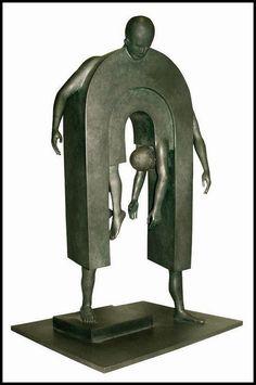 forma es vacío, vacío es forma: Escultura Jean Louis Corby - escultura, bronce