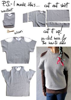 Cut - it - out… Literally!  There's no time like the present to give yourself a present!  Being crafty and creating fun fashions can take seconds.  Case in point: The cut out sweatshirt! REIMAGINE, REUSE, &  REINVENT this very instant.  Take two things you probably already have at home: a sweatshirt and your trusty scissors and get inspired by the casual cool Alexander Wang and the athletic inspired looks were seeing all around.  Going the distance is easy when you sport the spor