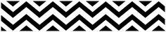 Chevron Black and White Wallpaper Border