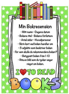Skriv ut och klistra in i ett skrivhäfte som klassen har… Teacher Education, School Teacher, Swedish Language, Language And Literature, School Hacks, Teaching Materials, School Supplies, Homeschool, Writing