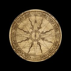 """""""Old Compass Rose"""" Something like this but with a lily instead of the sun."""