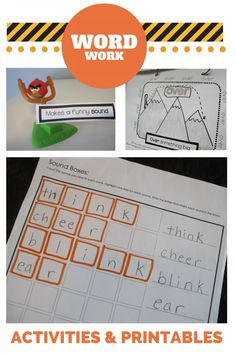 Great resources for word work!