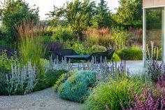 Marcus Barnett Studio — London — Cotswolds - Another! Side Garden, Terrace Garden, Lawn And Garden, Terrace Ideas, Small Terrace, Lawn And Landscape, Landscape Design, Back Gardens, Outdoor Gardens