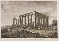 Temple of Jupiter at Aegina.  Drawing in Museum Worsleyanum.