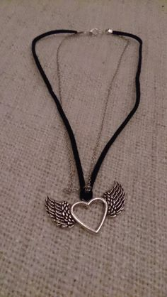 Collier Coeur Ailes