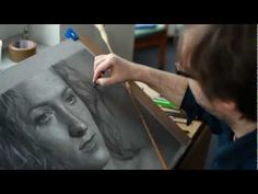 DIRK DZIMIRSKY - Drawing Hiperrealistic Face in Pencil