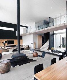 Loft Interior Design, Loft Design, Home Room Design, Contemporary Interior Design, Dream Home Design, Home Interior, Modern House Design, Luxury Interior, Interior Design Inspiration