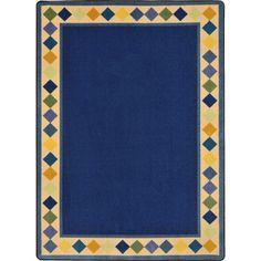 "The Conestoga Trading Co. Blue Area Rug Rug Size: Oval 3'10"" x 5'4"""