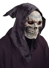 Skull Hooded Flexi Face Adult Mask Grim Reaper Scary Movie Theme Party Halloween * Learn more by visiting the image link. Halloween Face Mask, Halloween Skull, Halloween Costumes, Fun Costumes, Adult Halloween, Scary Halloween, Halloween Makeup, Halloween Ideas, Costume Ideas