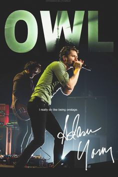 Adam Young - Owl City. Can't wait to see him in October for On The Verge Tour!!! :)