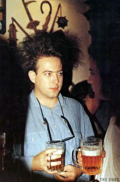 Robert Smith and a beer