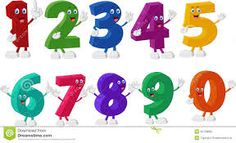 Image result for numbers in cartoon form