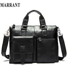 100% Genuine Leather men bag Shoulder Bag crossbody Fashion laptop business men's travel bags tote Men messenger bags 2016 new * Read more  at the image link.