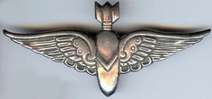 HECTOR AGUILAR VINTAGE MEXICO STERLING SILVER BOMBARDIER WINGS PIN