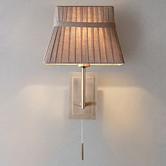 Buy John Lewis Audrey Wall Light, Taupe online at JohnLewis.com - John Lewis