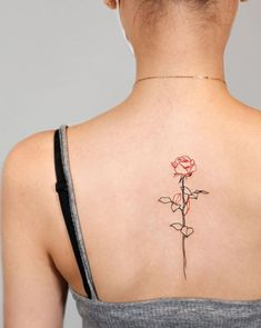 Rose Tattoo Tiny Flower Tattoos, Birth Flower Tattoos, Flower Tattoo Designs, Rose Tattoos, Girl Tattoos, Tattoos For Guys, Tattoos For Women, Unique Tattoos, Small Tattoos