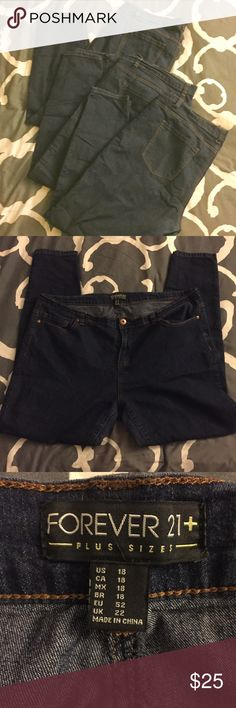 ✨SALE!✨ Bundle of 3 Pairs: Forever 21 Skinny Jeans Forever 21 | Dark Denim Skinny Jeans | BUNDLE OF 3 PAIRS! | Size 18 plus | I recently purchased these from a sweet seller here on Poshmark & unfortunately they do not fit me (I didn't know what my size actually was in the PLUS category, so I just went out on a whim and thought maybe these would work) | They are a really nice looking pair of jeans | in really good condition | I am selling for what she was, I am not trying to make money off…